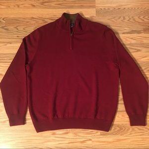 346 Brooks Brother 100% Merino Wool Zip Up Sweater